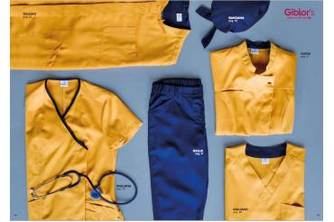 Îmbrăcăminte pentru personal medical, din Tencel în culoare mango