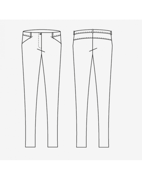 Pantalon femei LAYLA bumbac elasticizat