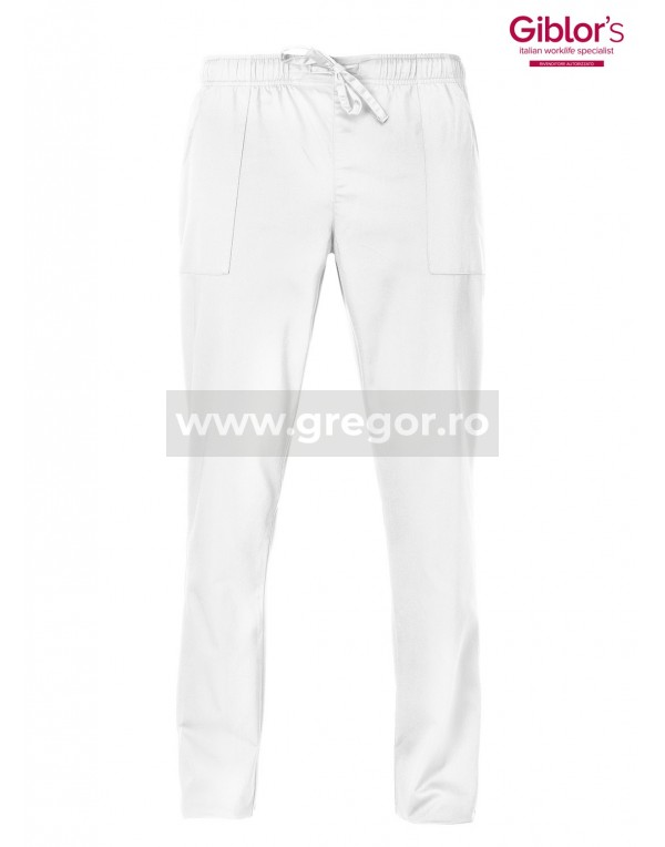 Pantalon medical RODI alb